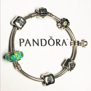 Authentic Pandora Charm Bracelet & Charms